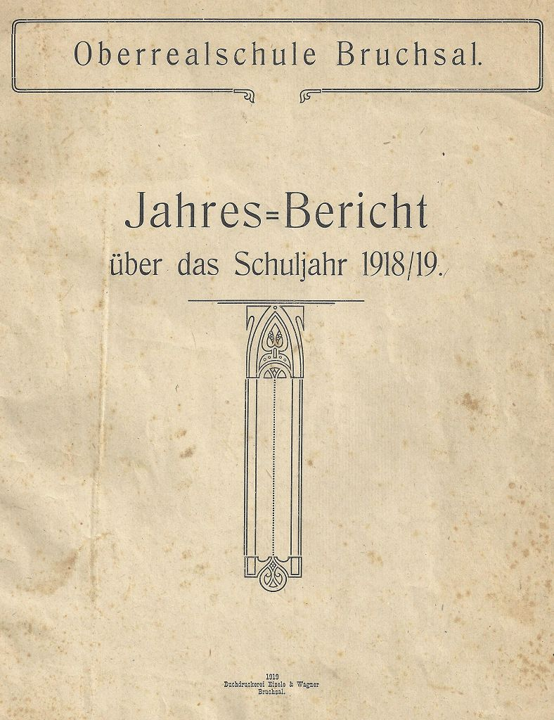 Jahresbericht 1918/19