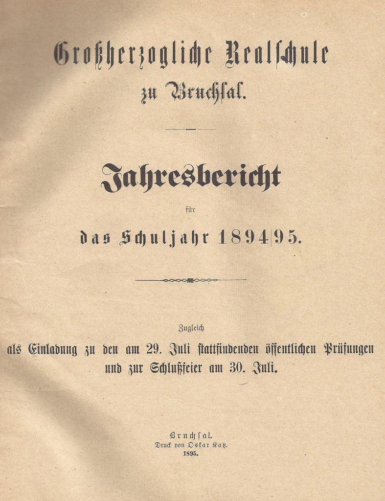 Jahresbericht 1894/95