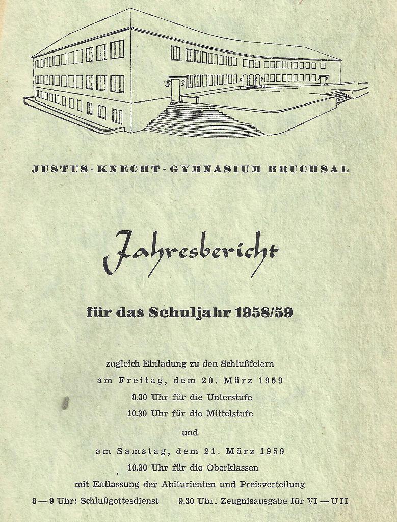 Jahresbericht 1958/59