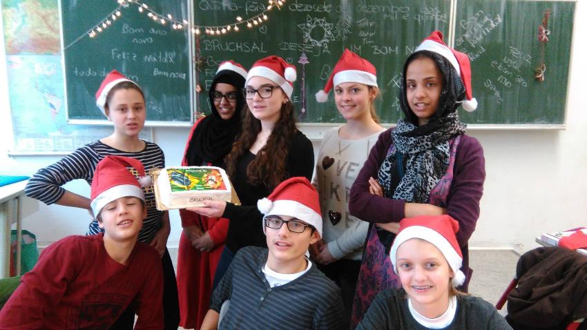 Weihnachtsfeier mit portugiesischen Spezialitäten