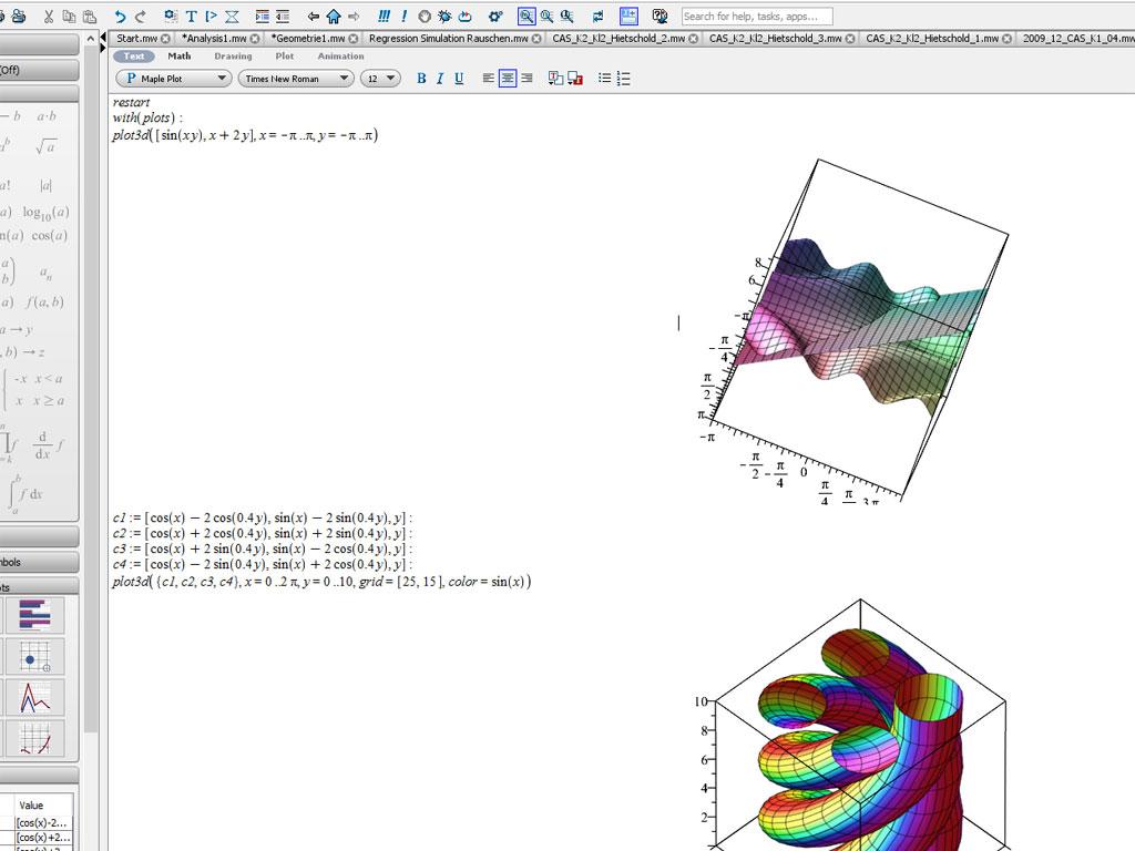 Kurven und Flächen im Raum (1)